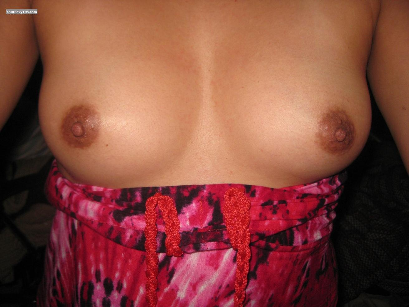 Tit Flash: Girlfriend's Small Tits (Selfie) - Littlebutt from Philippines